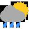 Intervalos nubosos con lluvia moderada