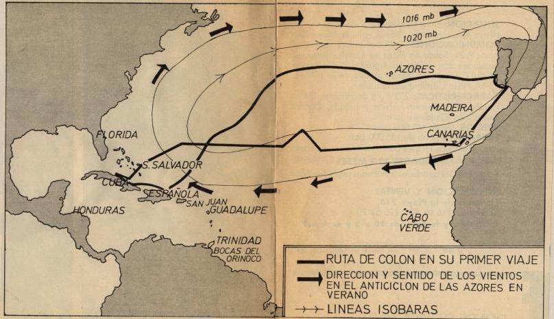 El mapa del tiempo de una pgina de la historia Los viajes de