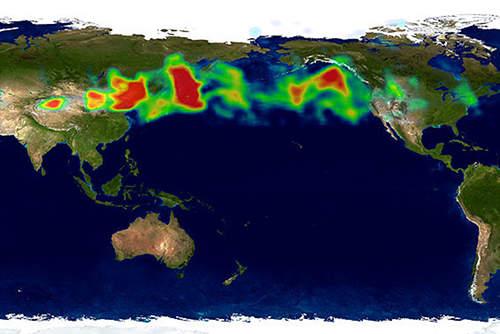 La contaminación de Asia hace a las borrascas del Pacfico