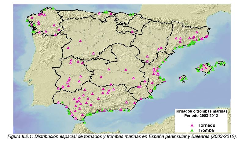 Climatolog a de tornados en espa a peninsular y baleares revista del aficionado a la meteorolog a - Tornados en espana ...