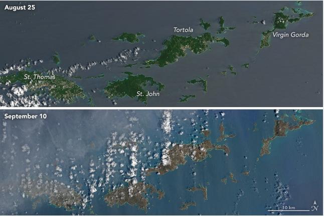 El huracán Irma vuelve marrón a las islas del Caribe