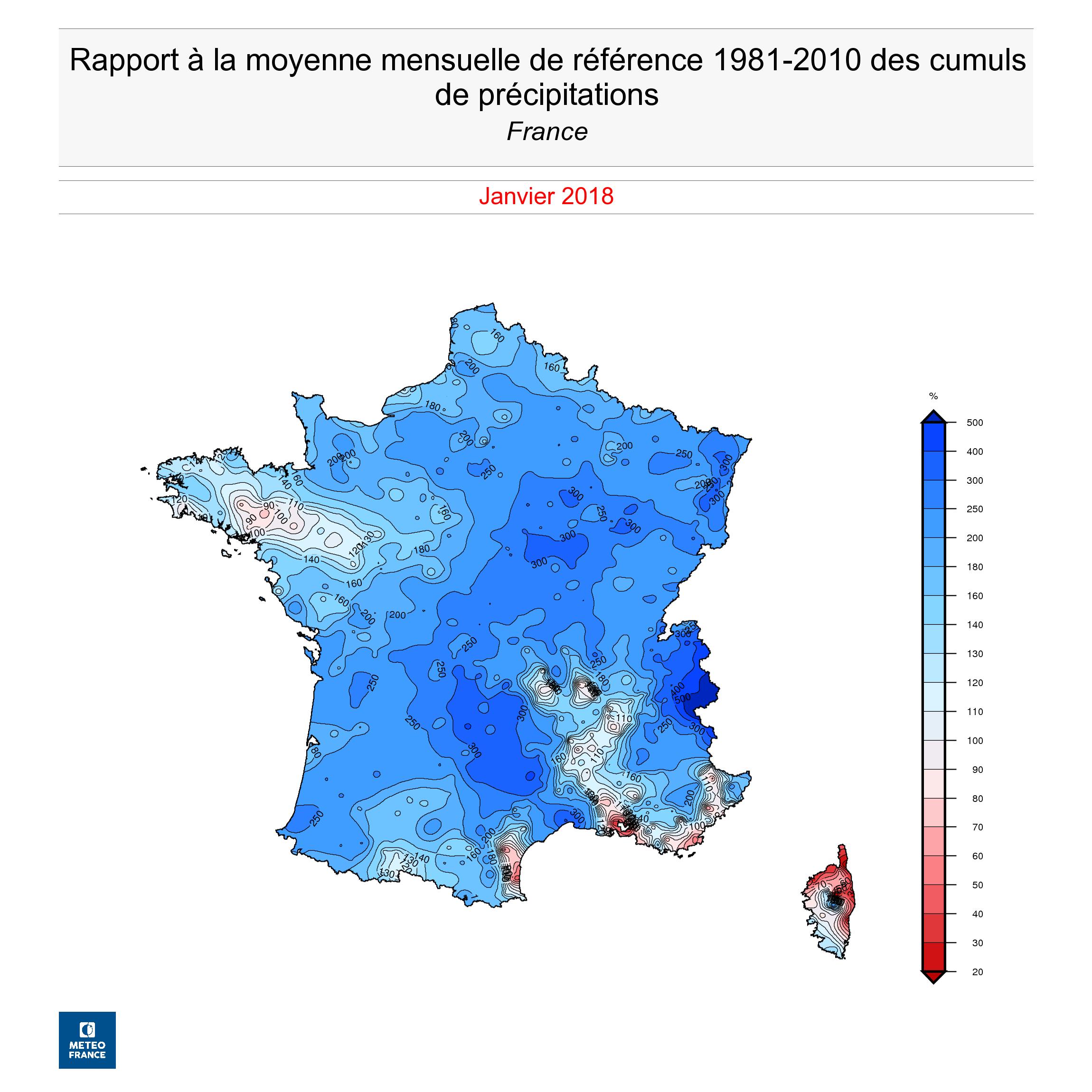 Invierno 2017 2018 en francia precipitaciones for El tiempo en paris en enero 2017