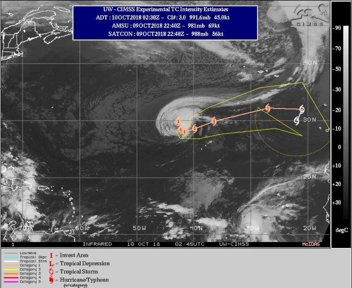 El huracán Leslie amenaza con llegar a Barcelona — Atención