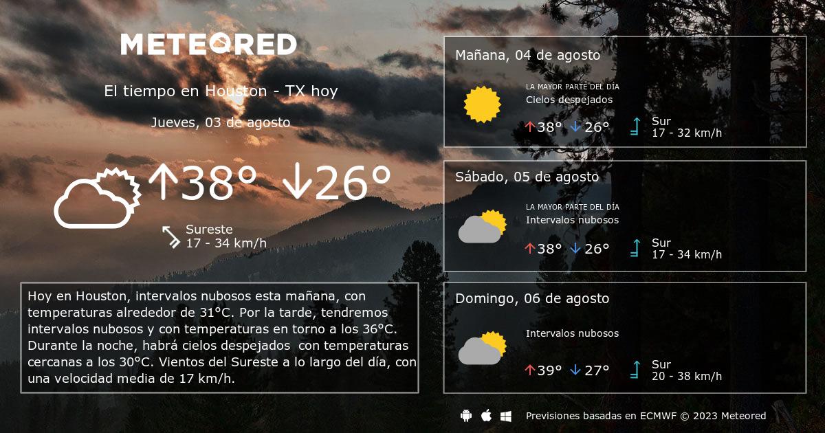 El Tiempo En Houston Tx Predicci N A 14 D As