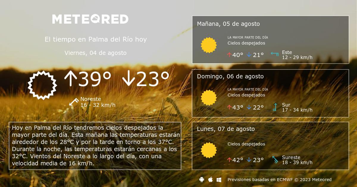 El Tiempo En Palma Del Río Predicción A 14 Días Tiempocom