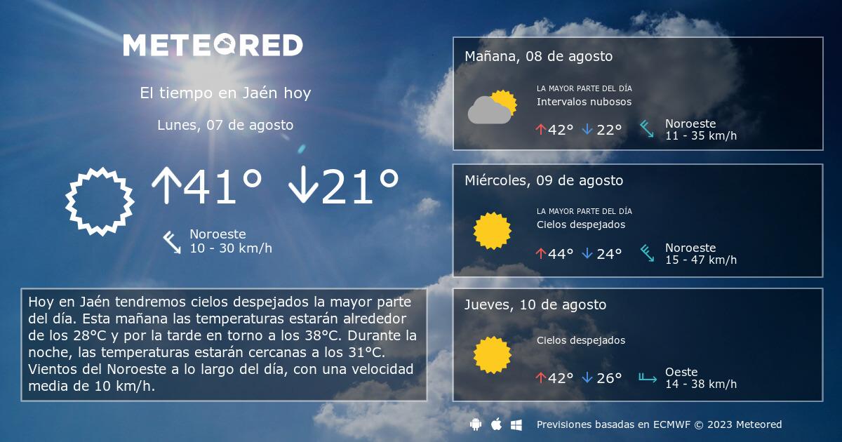 El Tiempo En Jaén Predicción A 14 Días Tiempocom