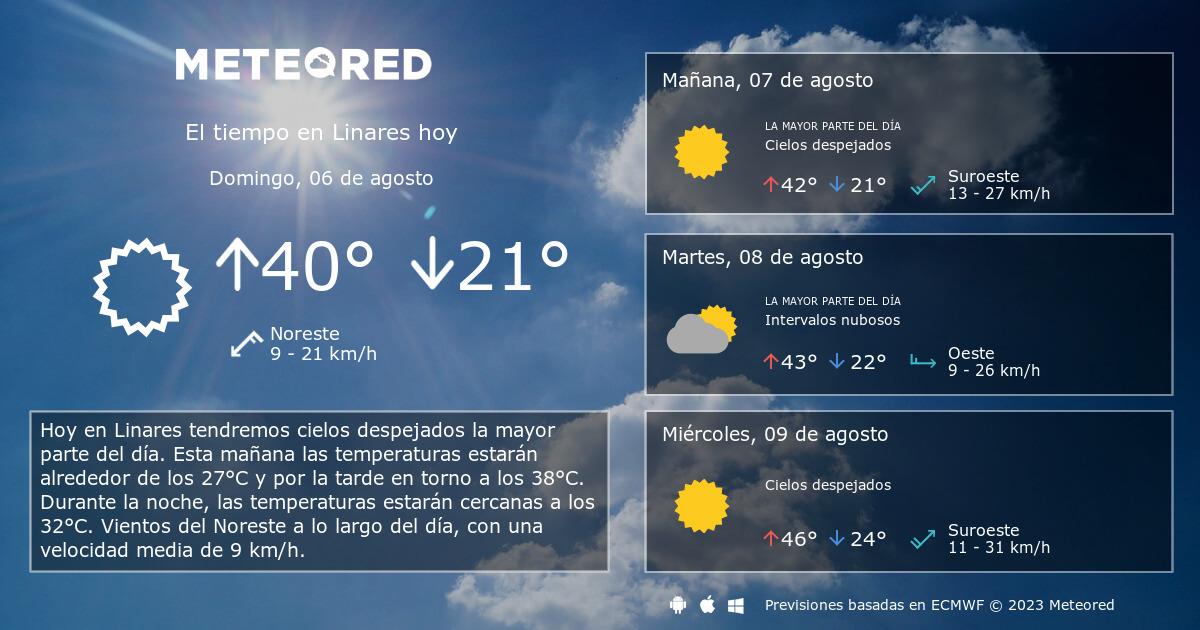 El Tiempo En Linares Predicción A 14 Días Tiempocom