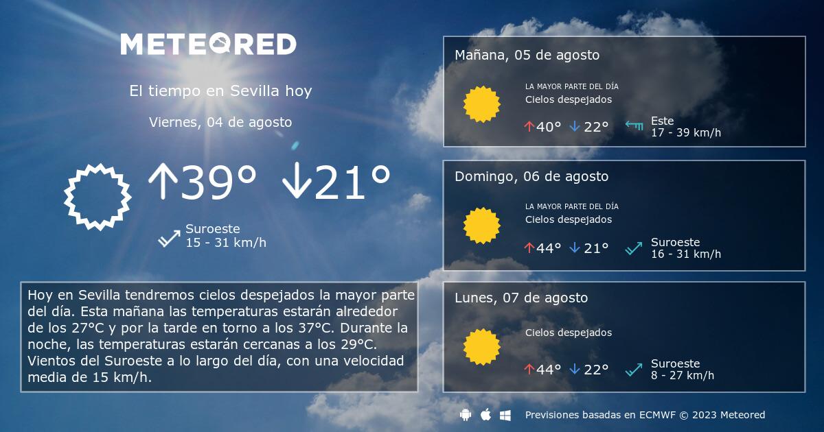 El Tiempo En Sevilla Predicción A 14 Días Tiempocom