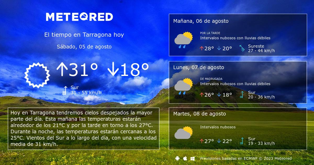 El Tiempo En Tarragona Predicción A 14 Días Tiempocom