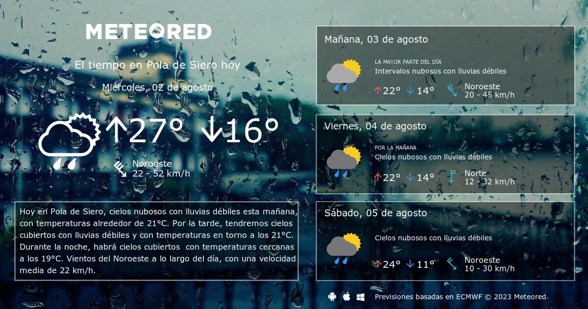 El tiempo en pola de siero predicci n a 14 d as - El tiempo en siero asturias ...