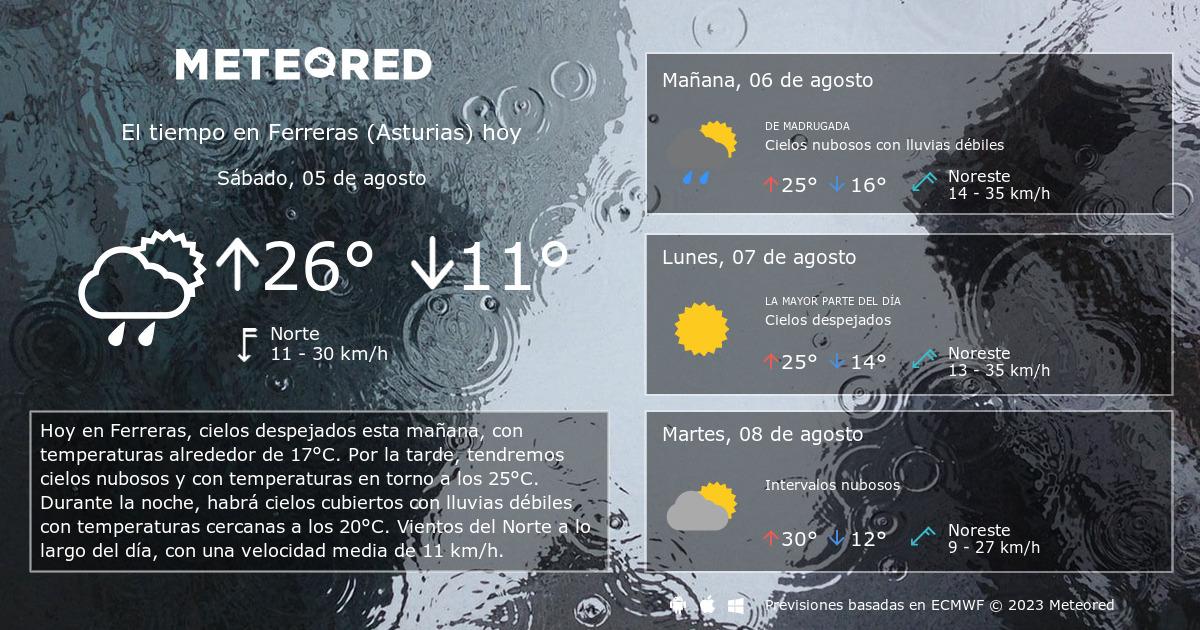 El Tiempo En Ferreras Asturias Predicción A 14 Días Tiempocom