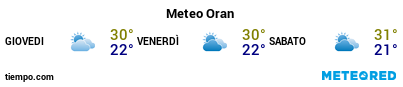 Previsioni del tempo nel porto di Orano per i prossimi 3 giorni