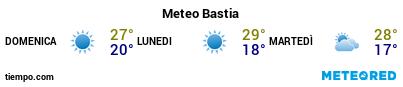 Previsioni del tempo nel porto di Bastia per i prossimi 3 giorni