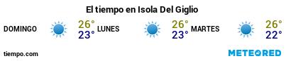 Previsión del tiempo en el puerto de Giglio para los próximos 3 días