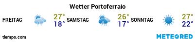 Wettervorhersage im Hafen von Portoferraio für die nächsten 3 Tage