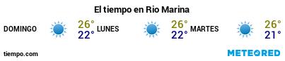 Previsión del tiempo en el puerto de Rio Marina para los próximos 3 días