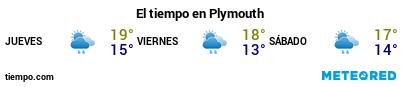 Previsió del temps en el port de Plymouth per als pròxims 3 dies