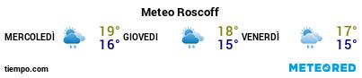 Previsioni del tempo nel porto di Roscoff per i prossimi 3 giorni