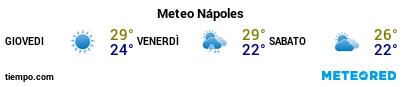 Previsioni del tempo nel porto di Napoli per i prossimi 3 giorni