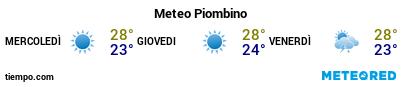 Previsioni del tempo nel porto di Piombino per i prossimi 3 giorni