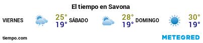Previsión del tiempo en el puerto de Savona para los próximos 3 días