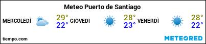 Previsioni del tempo nel porto di La Gomera (Playa Santiago) per i prossimi 3 giorni