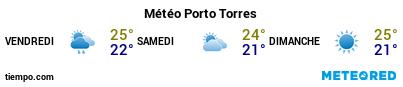 Météo au port de Porto Torres pour les 3 prochains jours