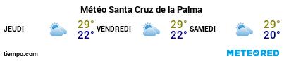Météo au port de La Palma (S.C. de la Palma) pour les 3 prochains jours