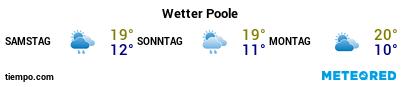 Wettervorhersage im Hafen von Poole für die nächsten 3 Tage