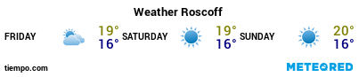 Weather forecast at the port of Roscoff for the next 3 days