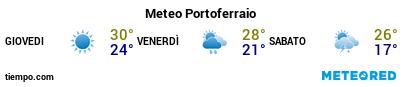 Previsioni del tempo nel porto di Elba (Portoferraio) per i prossimi 3 giorni