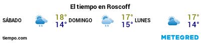Previsió del temps en el port de Roscoff per als pròxims 3 dies