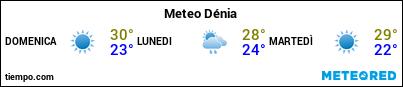 Previsioni del tempo nel porto di Denia per i prossimi 3 giorni