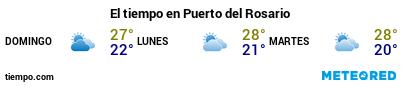 Previsión del tiempo en el puerto de Fuerteventura (Puerto del Rosario) para los próximos 3 días