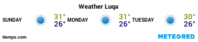 Weather forecast at the port of Malta for the next 3 days