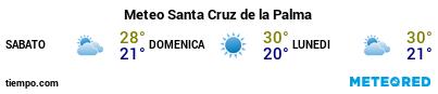 Previsioni del tempo nel porto di La Palma (S.C. de la Palma) per i prossimi 3 giorni