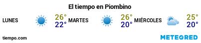 Previsió del temps en el port de Piombino per als pròxims 3 dies