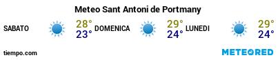 Previsioni del tempo nel porto di Ibiza (San Antonio) per i prossimi 3 giorni