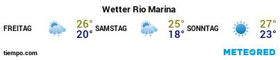 Wettervorhersage im Hafen von Rio Marina für die nächsten 3 Tage