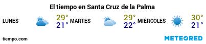 Previsió del temps en el port de La Palma (S.C. de la Palma) per als pròxims 3 dies
