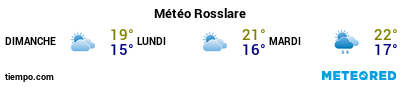 Météo au port de Rosslare pour les 3 prochains jours