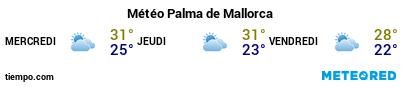 Météo au port de Majorque (Palma) pour les 3 prochains jours