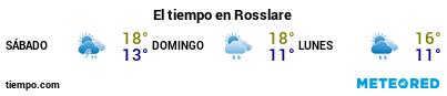 Previsión del tiempo en el puerto de Rosslare para los próximos 3 días
