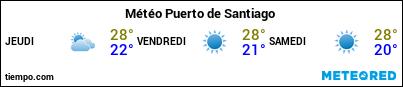 Météo au port de La Gomera (Playa Santiago) pour les 3 prochains jours