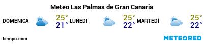 Previsioni del tempo nel porto di Gran Canaria (Las Palmas G.C.) per i prossimi 3 giorni