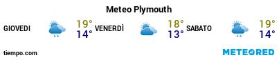 Previsioni del tempo nel porto di Plymouth per i prossimi 3 giorni