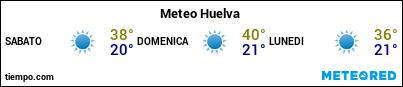 Previsioni del tempo nel porto di Huelva per i prossimi 3 giorni