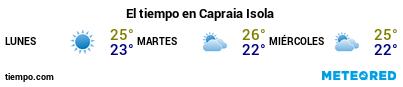 Previsión del tiempo en el puerto de Capraia para los próximos 3 días