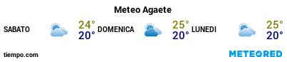 Previsioni del tempo nel porto di Gran Canaria (Agete) per i prossimi 3 giorni