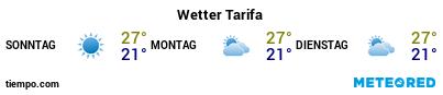 Wettervorhersage im Hafen von Tarifa für die nächsten 3 Tage